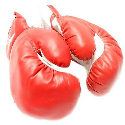 AGE 8-10 KIDS 8 OZ BOXING GLOVES YOUTH PRACTICE TRAINING MMA Faux Leather Red