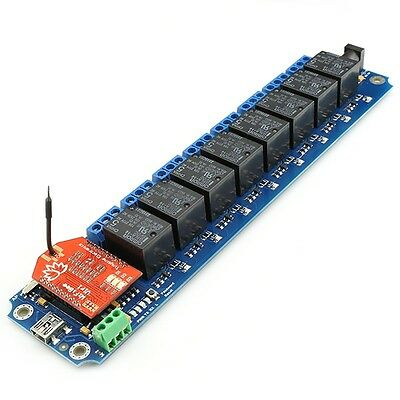 TOSR182 - 8 Channel Smartphone WiFi Relay - (Password/Momentary/Latching)