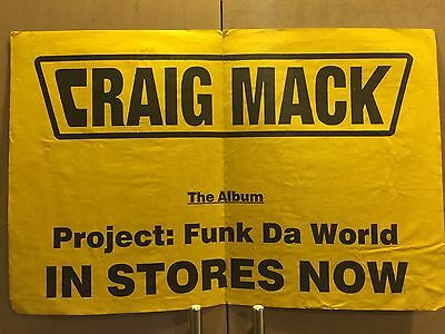 Original Craig Mack Project Funk The World Record Release Poster 1994 Bad Boy