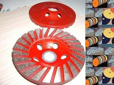 4 Inch Polishing 27 Pad 3 Piece Grinding Cup Wheel Stone Concrete Granite Marble