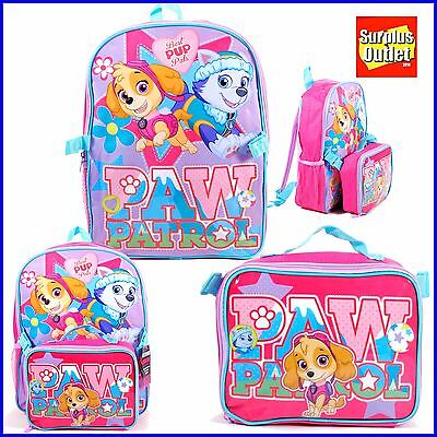 "Paw Patrol 16"" Large backpack School With Detachable Lunch Bag"