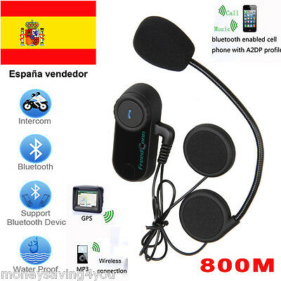 BT Moto bluetooth casco Intercom Motocicleta Interphone Auriculares 800M