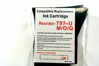 1x Replacement 797-U M/O/Q Compatible Red Ink Cartridge for Pitney Bowes K700