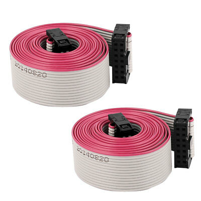 2PCS 1.28m 4.2ft 14P 14 Way 2.54mm Pitch F/F IDC Extension Flat Ribbon Cable