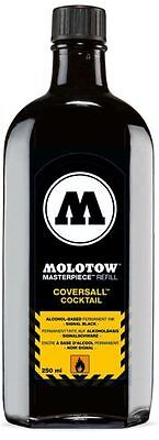 Molotow 760 Masterpiece Refill - Coversall Cocktail Ink - 250Ml Black Ink