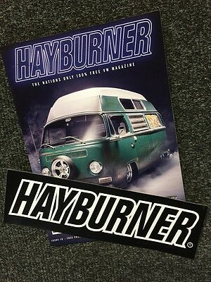 Hayburner VW Magazine Issue 16 with LARGE STICKER official sales beetle T2 T25