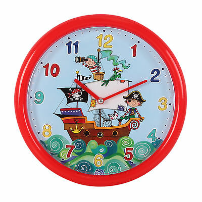 Rachel Ellen  Pirates Bedroom Wall Clock Childrens Boys Girls  Birthday  Gift