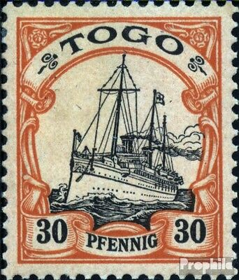 Togo (German. Colony) 12 with hinge 1900 Imperial Yacht