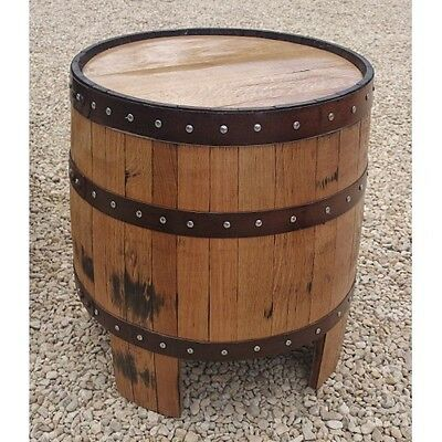 """Recycled Solid Oak Whisky Barrel """"Nessie"""" Garden Table"""