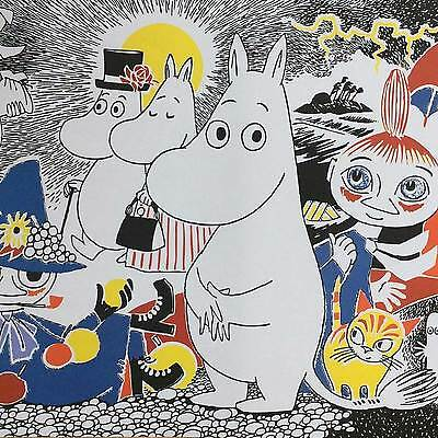 Moomins Wrapping Paper THREE Sheets Gift Wrap Wrapping Paper Moomin Tove