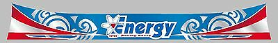 Energy Design Helmet Visor Sticker/Strip - Karting