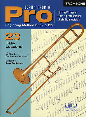 Learn From A Pro Trombone Sheet Music Book with CD How To Play Method