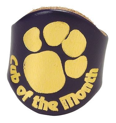 Cub of The Month Leather  Scouts Woggle
