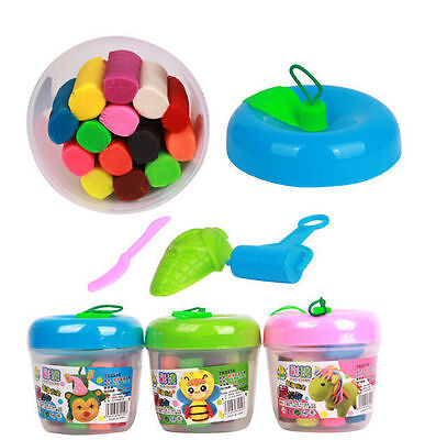 14Pcs New Kids Play Dough Doh Clay Modeling Cutter Tool Toy Craft Gift Set