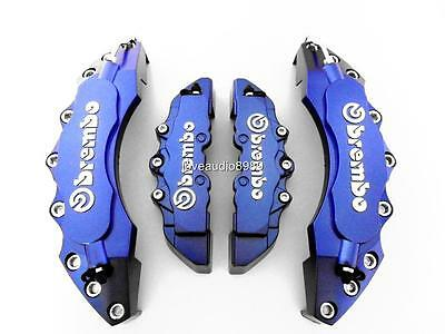 3D Style Big Dark Blue Brembo Look Disc Brake Caliper Cover Front & Rear 4 Pcs