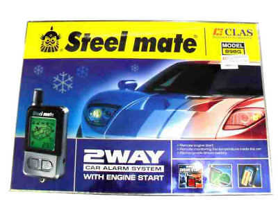 New Steel mate 898G 2 Way Rechargeable LCD Car Alarm Remote Engine Start