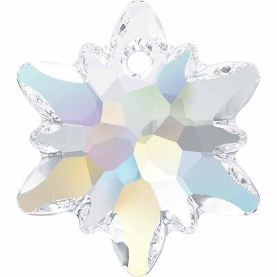 SWAROVSKI CRYSTAL EDELWEISS PENDANT *18-28mm *6748 *CLEAR-AB-COLOURS *WHOLESALE