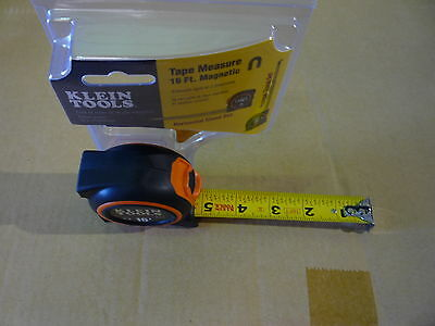 KLEIN TOOLS 93116 Tape Measure, 1 In x 16 ft, Black/Orange Magnetic