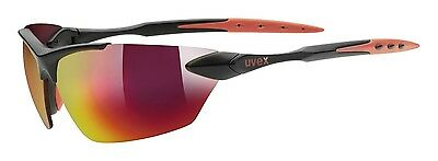 Uvex Sportstyle 203 Sportbrille - black mat red