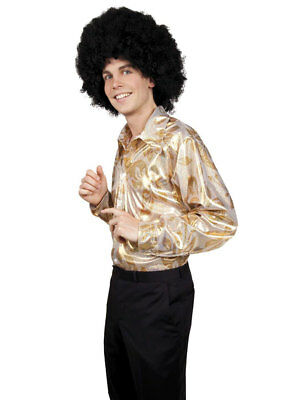 "Disco Shirt ""Hot Stuff"" Gr. M/L/XL Party 80s Fasching"