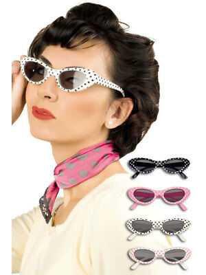 Partybrille Rock`n Roll Sandy Punkte Fasching Brille