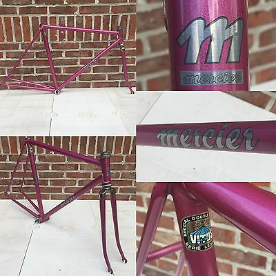 Very Rare MERCIER PINK TRACK VITUS Vintage Bike Frame PISTA FIXED GEAR PISTE