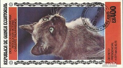 Equatorial-Guinea block309a (complete issue) used 1978 Cats