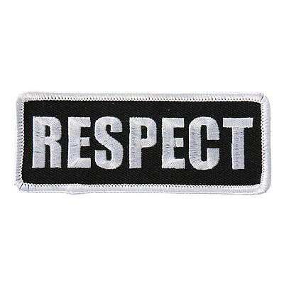 RESPECT EMBROIDERED IRON ON 4 inch MC BIKER PATCH