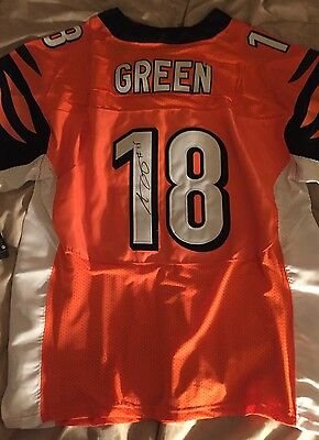 A J Green SIGNED Cincinnati Bengals Jersey Stitched Autographed Size XL