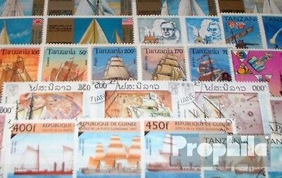 Motives 50 different Sailboats stamps