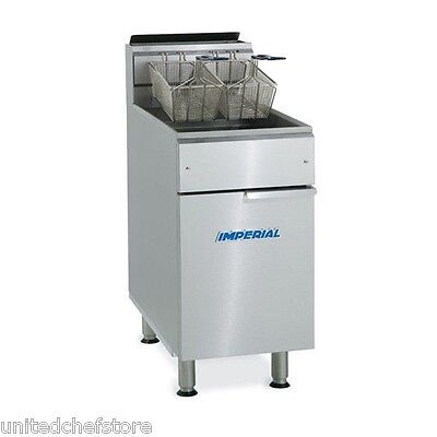 IMPERIAL COMMERCIAL 40LB GAS / NATURAL GAS DEEP FRYER With 2 FRY BASKETS IFS-40