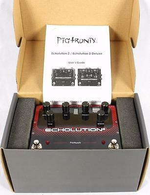 Pigtronix USA Echolution 2 E2B Electric Guitar Delay Echo Effect Effects Pedal