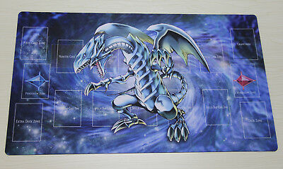 C1560 Blue-Eyes White Dragon Play Mat Custom YUGIOH Playmat Free Mat Bag