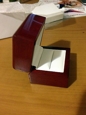 SINGLE RING Cherry Wood Jewelry Band Box Engagement Best Quality Best Price NEW