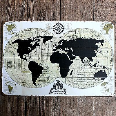 METAL TIN SIGN world map Decor Bar Pub Home Vintage Retro Poster Cafe on map lamp shade, map room divider, map travel, map venezuela flag, map in india, map in europe, map with states, map facebook covers, map cornwall uk, map tools, map recipe, map cross stitch, map of montana, map with mountains, map se usa, map color, map games, map design, map with title, map example,