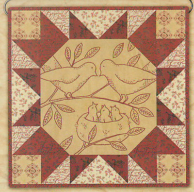 SALE - PATTERN - Tweet Home - pieced and stitchery block PATTERN - Kathy Schmitz