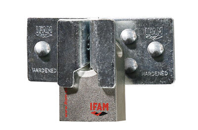 Ifam Hercules Cen 4 Rated High Security Padlock. With Ifam High Security Hasp.