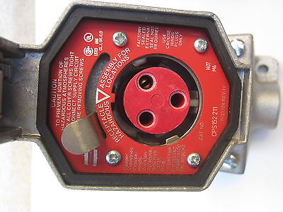 "Crouse-Hinds CPS152211 3/4"" Arktite Pin & Sleeve Receptacle, New"