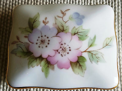 Hammersley Bone China Trinket Box Made in England Flower Pattern