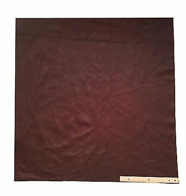 UPHOLSTERY LEATHER PIECE COWHIDE DARK BROWN Light Weight 9 Square Feet 3' x 3'