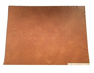 UPHOLSTERY LEATHER PIECE COWHIDE LIGHT BROWN Light Weight 12 Square Feet 3' x 4'