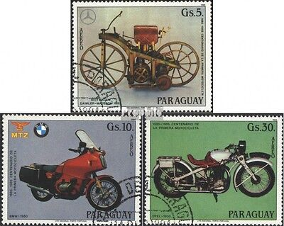 Paraguay 3821-3823 (complete issue) used 1984 100 years Motorcy