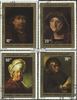 Mauritania 686-689 (complete.issue) used 1980 Rembrandt-Paintin