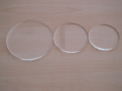 4mm CLEAR ACRYLIC PERSPEX DISC (pack of 2)
