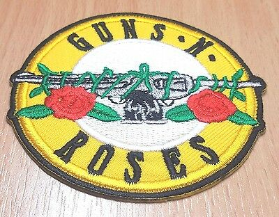 New Guns N Roses Music Rock Logo Symbol Embroidered Iron On Patch Shirt Po334