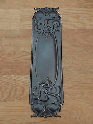 10 X Bronze Finish Art Nouveau Finger Door Push Plates Fingerplate