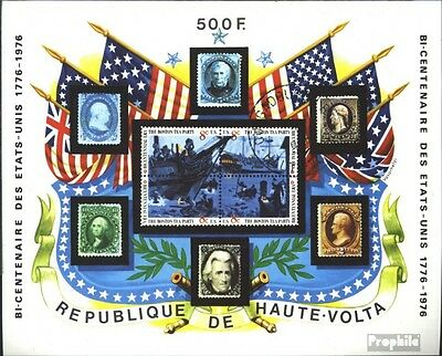 Upper Volta block31 (complete issue) used 1975 Independence the