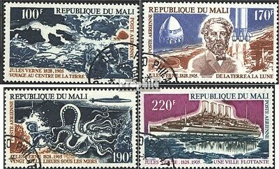 Mali 476-479 (complete issue) used 1975 70. Death of Jules Vern