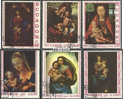 Ecuador 1345-1350 (complete issue) used 1967 madonna images