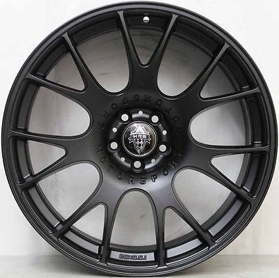 19 inch Aftermarket FERRARI CHALLENGE STYLE BLACK ALLOY WHEELS WITH NEW TYRES